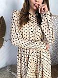 Женское платье в горошек с рюшами (3 цвета), фото 9