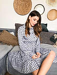 Женское платье в горошек с рюшами (3 цвета), фото 10