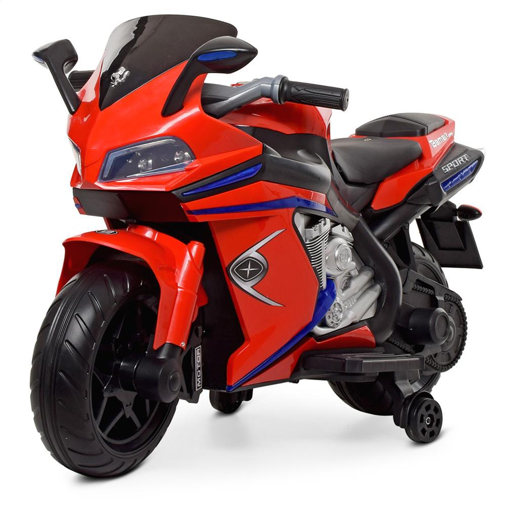 Детский электромобиль мотоцикл Bambi M 4202EL-3 BMW красный