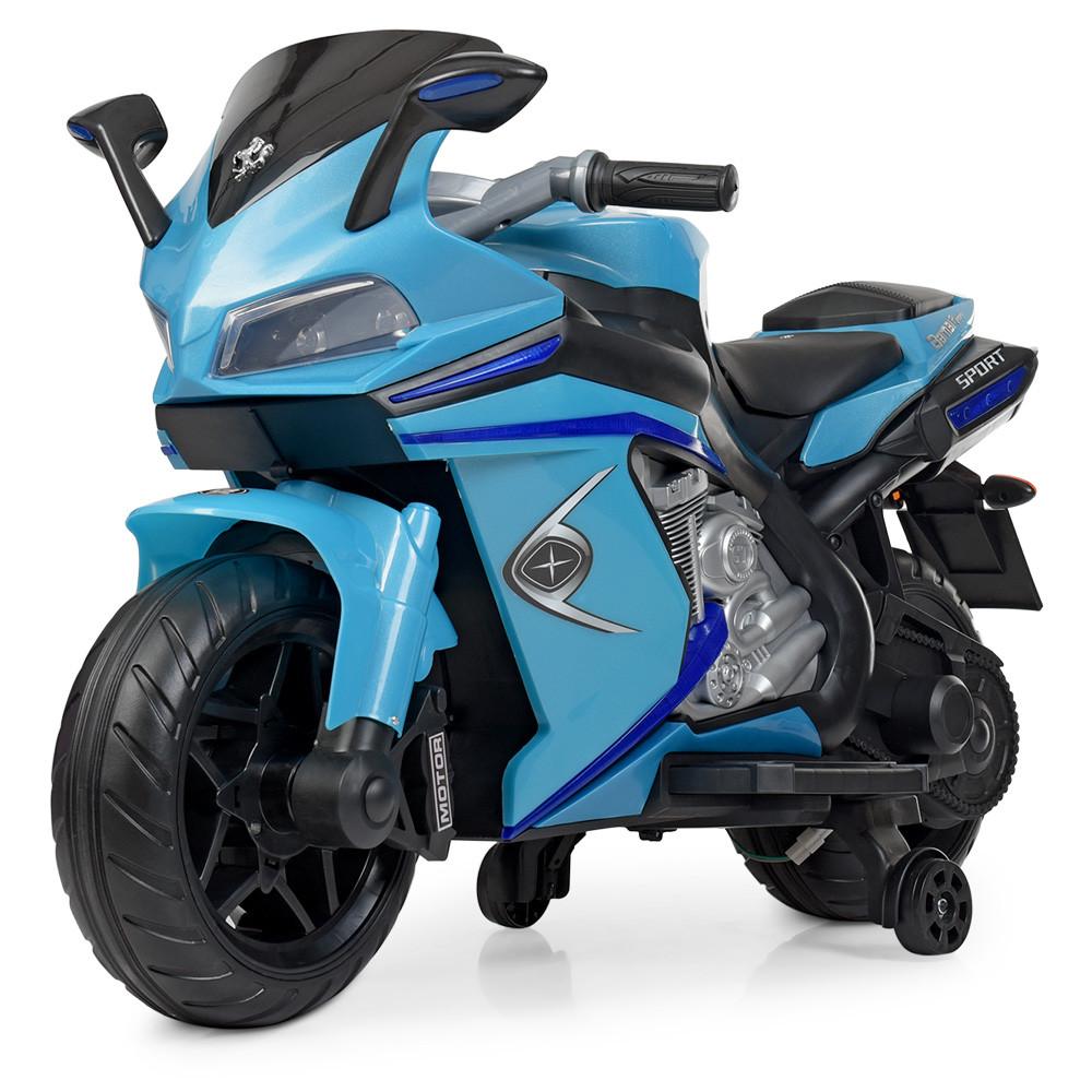 Детский электромобиль мотоцикл Bambi M 4202EL-4 BMW синий