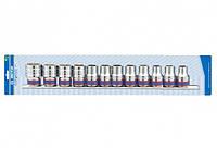 """Набор торцевых головок 1/2"""", шестигранные, 10-24 мм, 12 предметов"""