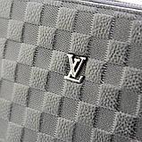 Кожаная маленькая сумка мужская черная через плечо lv-808-2 bla, фото 6
