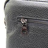 Кожаная маленькая сумка мужская черная через плечо lv-808-2 bla, фото 8