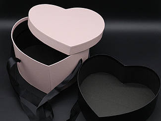 Коробки для цветов двойное дно. Цвет розовый. 23х16см
