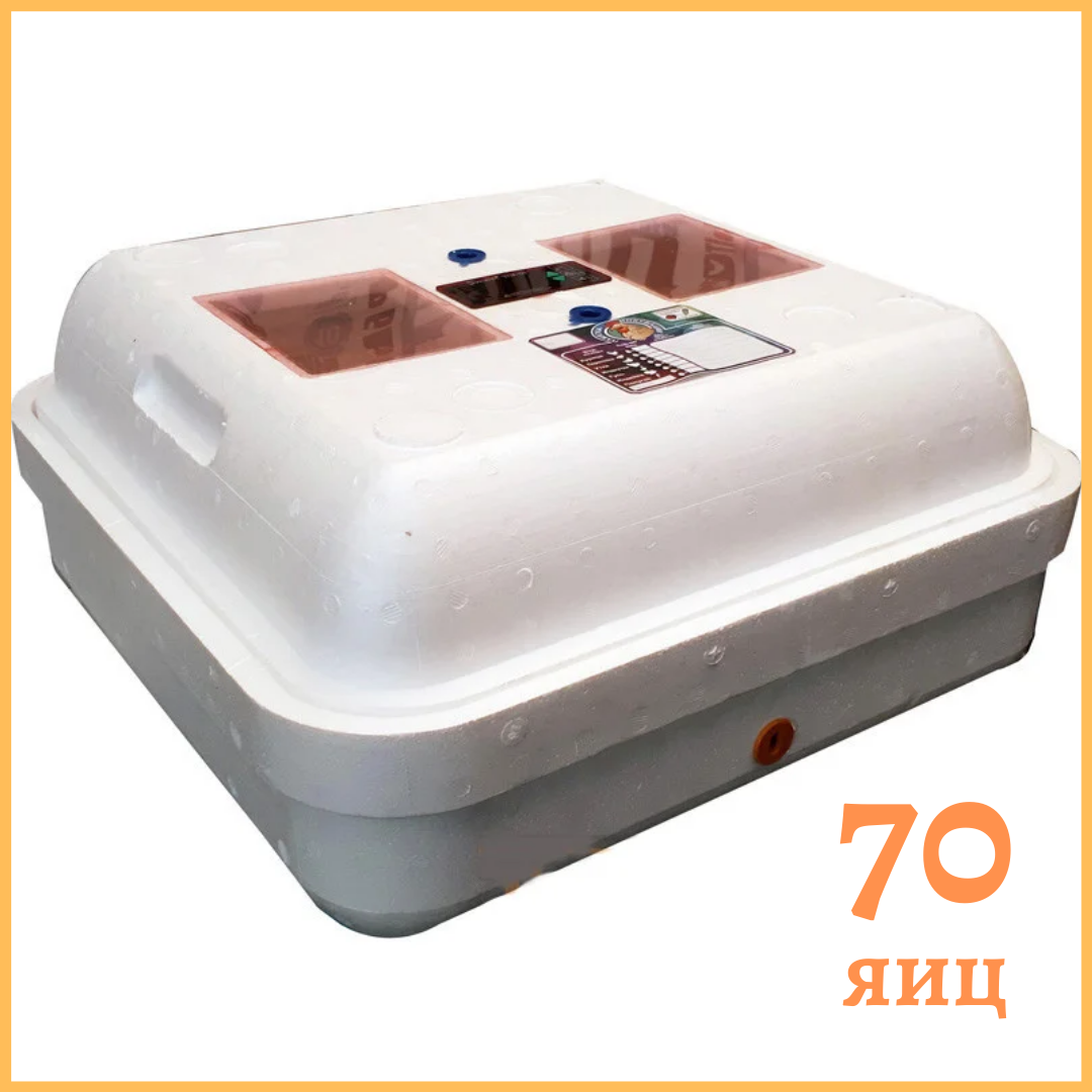 """Инкубатор """"Рябушка"""" на 70 яиц (аналоговый терморегулятор) ручной переворот"""