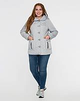 Куртка женская с съемным капюшоном рр 50-62