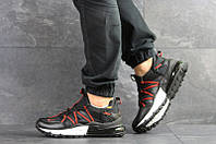 Мужские кроссовки в стиле Nike черные с красным