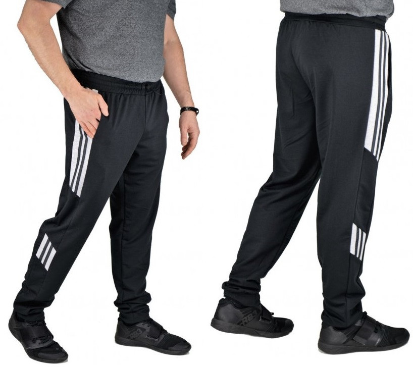 Спортивные штаны мужские трикотажные брюки с манжетом, черные