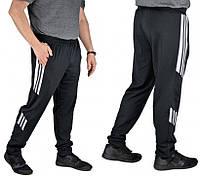 Спортивные штаны мужские трикотажные брюкис манжетом, черные