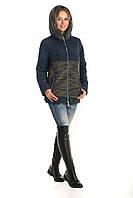 Женская  куртка короткая комбинированная рр 42-52