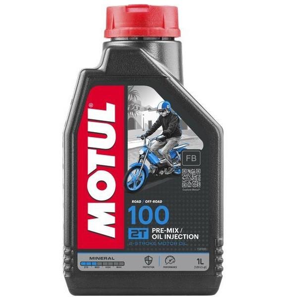 Масло для 2-х тактных двигателей минеральное MOTUL 100 2T 1л. 104024/837511