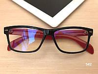 Красные компьютерные очки  прямоугольные ЕАЕ 542 красные / черные, фото 1