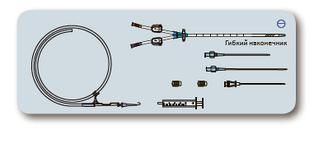 Комплект 3-х канального центрального венозного катетера для гемодиализа 12Fr x 20см