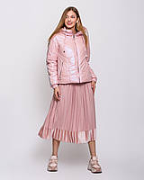 Женская куртка короткая с ломпасами  рр 42-54