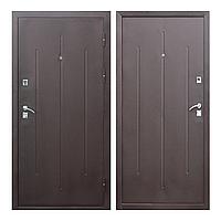 Дверь входная металлическая СтройГОСТ 7-2 метал/метал мінвата