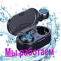 Беспроводные наушники блютуз гарнитура Bluetooth наушники 5.0 Wi-pods TW80. Черные