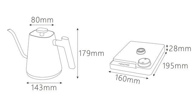 Электрический чайник Felicita Square s30 (0.9л.) c терморегулятором и регулировкой температуры