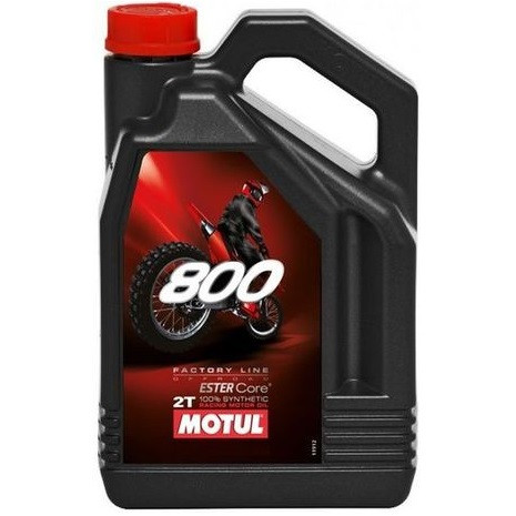 Масло для 2-х тактных двигателей 100% синтетическое эстеровое MOTUL 800 2T Factory Line Off Road 4л. 104039