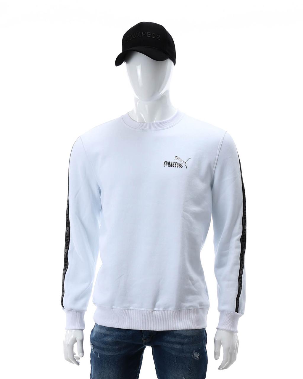 Свитшот осень-зима белый PUMA №5 с лентой WHT XL(Р) 20-402-003-002