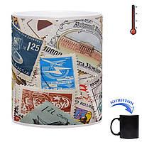 Чашка-хамелеон Страсть Филателиста 330 мл