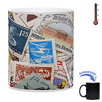 Чашка-хамелеон Страсть Филателиста  330 мл, фото 1