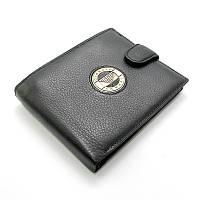 Кошелек мужской кожаный Armani arm-001 натуральная кожа черный маленький, фото 1