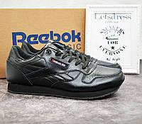 Мужские кроссовки Reebok Classic black Рибок Классик черные 46р