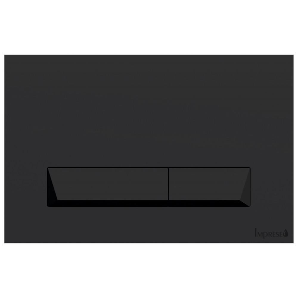 Клавиша смыва PAN Laska Black Soft Touch i8040B Черная матовая