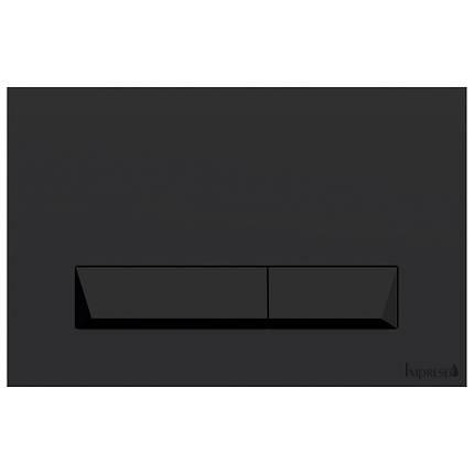 Клавиша смыва PAN Laska Black Soft Touch i8040B Черная матовая, фото 2