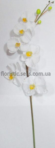 Орхидея искусственная крупная, белая