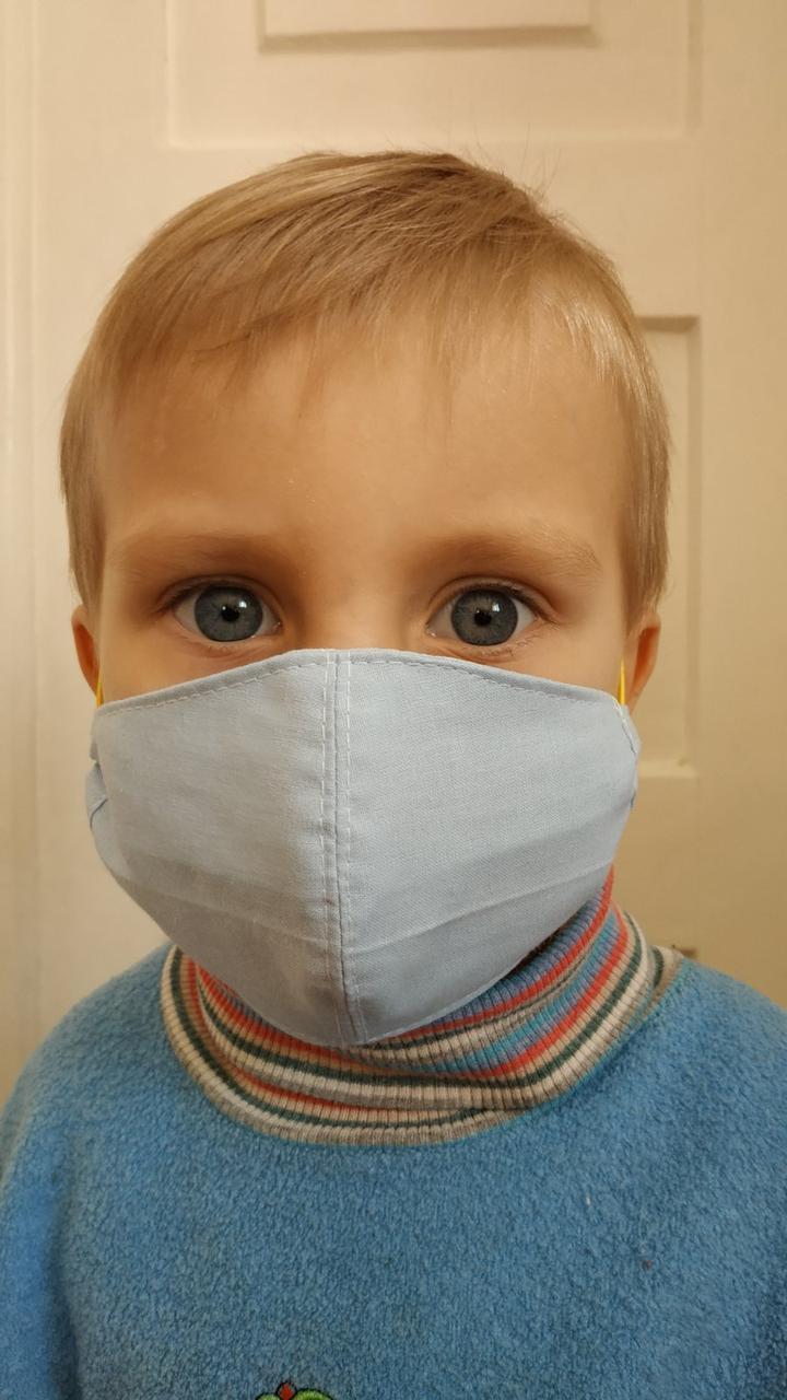 Трехслойная маска мужская | женская | детская, защитная тканевая, респиратор повязка