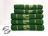 Полотенце махровое 70х140 Бамбук. Зеленое.
