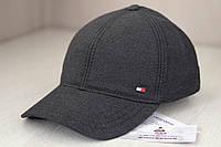 Серая классическая кепка с маленькой вышивкой Tommy Hilfiger,  FlexFit