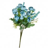 """Букет """"Розы с голубыми бутончиками"""""""