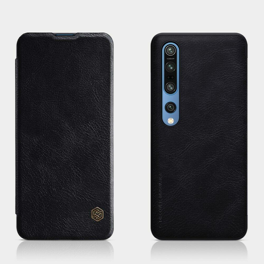 Nillkin Xiaomi Mi10/ Mi10 Pro Qin leather Black case Кожаный Чехол Книжка
