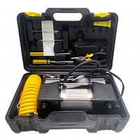 Портативный автомобильный компрессор от прикуривателя Black Box 2M с набором инструментов, автокомпрессор