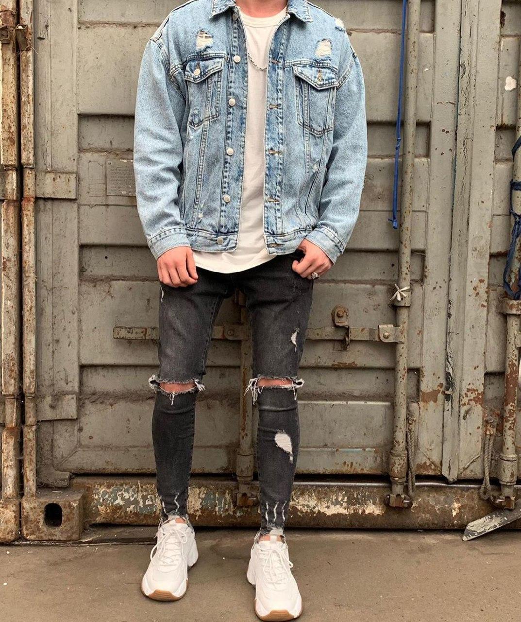 Мужская джинсовая куртка oversize 2Y PREMIUM M0087 blue