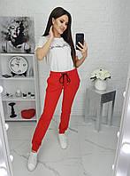 Стильные женские спортивные штаны красный