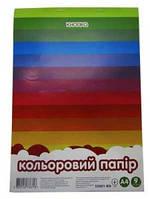 Бумага цветная двухсторонняя  КНОПКА А4 9л 55002-KN