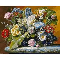 Картина раскраска по номерам на холсте 40*50см Babylon VP1047 Роскошный букет и бабочка