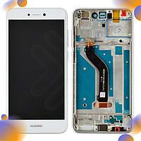 Дисплей для Huawei P8 Lite (2017), Honor 8 Lite, Nova Lite (2016), GR3 (2017), P9 Lite (2017) с тачскрином и рамкой в сборе, цвет белый, оригинал
