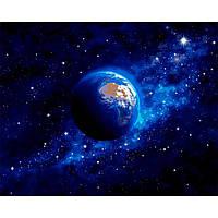 Картина раскраска по номерам на холсте 40*50см Babylon VP1260 Земля из космоса