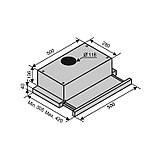 Витяжка Ventolux GARDA 50 INOX (1100) SMD LED, фото 3