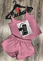 Дизайнерская линейка женских пижам , комплект майка+шорты.
