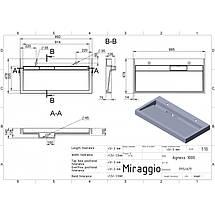Раковина для ванной подвесная Miraggio Agness 1000 (глянец/ 995*479*140 мм), фото 2