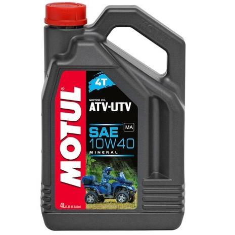Масло для 4-х тактних двигунів мінеральне MOTUL ATV-UTV 4T SAE 10W40 4л. 105879/852641