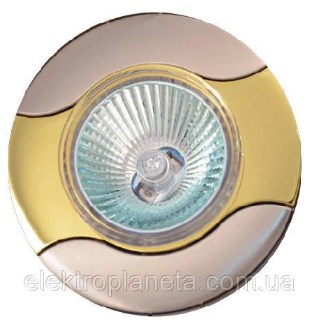 Точечный светильник MR16 737 A SN/G  сат.никель/золото
