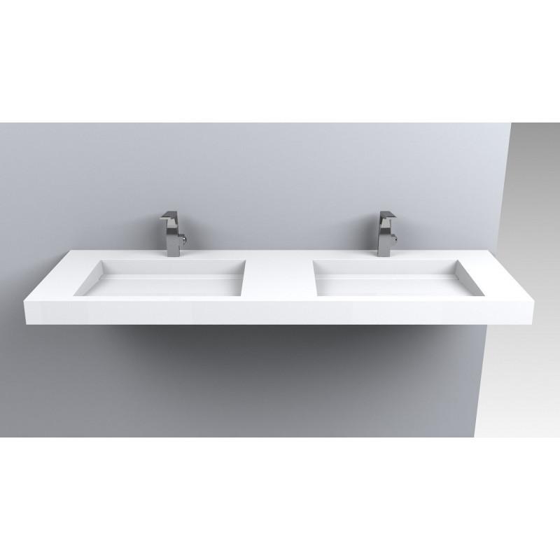 Раковина для ванной двойная подвесная Miraggio AGNESS 1500  (глянец/ 1505*479*140 мм)