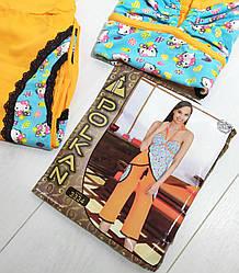 Комплект летний женской домашней одежды,  (топ+бриджи),  Polkan (размер M)