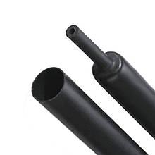 Термоусадочная трубка RADPOL RCK 3/1x1 черная с клеем устойчивая к УФ самозатухающая (-45 до +125ºC)
